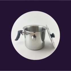 Double boiler pot with lid